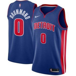 Detroit Pistons Andre Drummond Blue Jersey